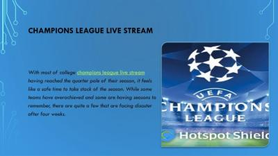 PPT - Premier league vs champions league live stream PowerPoint Presentation - ID:7472972