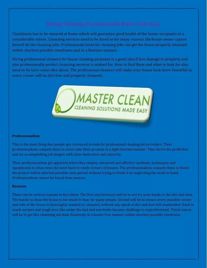 house cleaning jobs hiring - Roho4senses