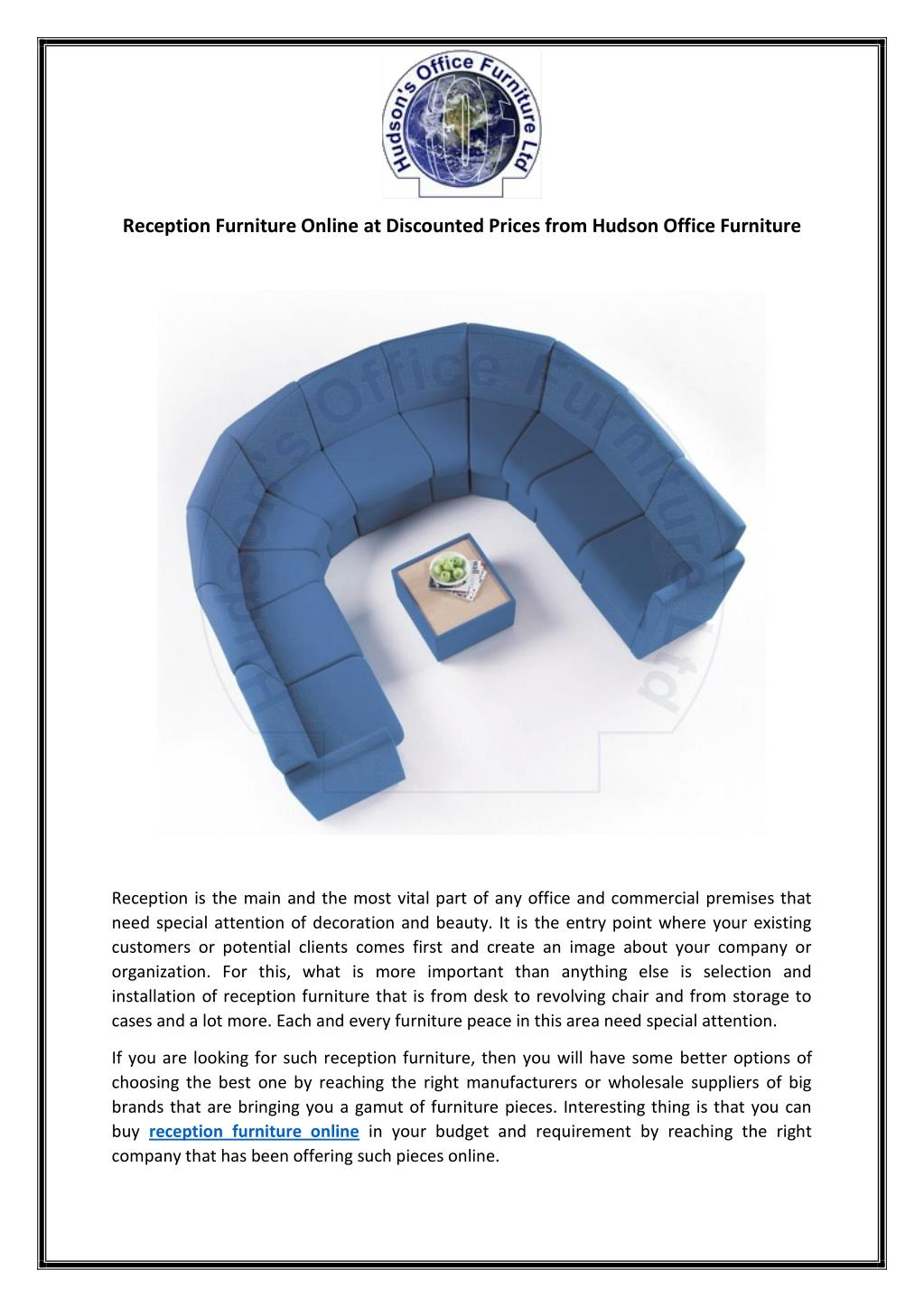 Ppt Reception Furniture Online At Discounted Prices From Hudson Office Furniture Powerpoint Presentation Id 7518715
