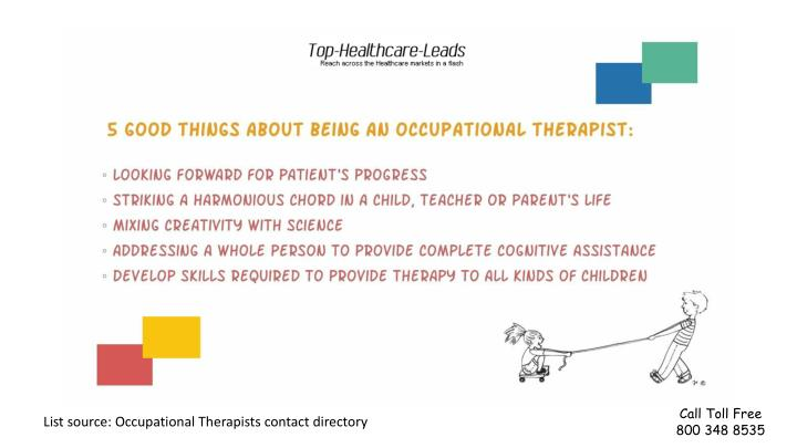 PPT - Reasons for visiting Occupational Therapists PowerPoint