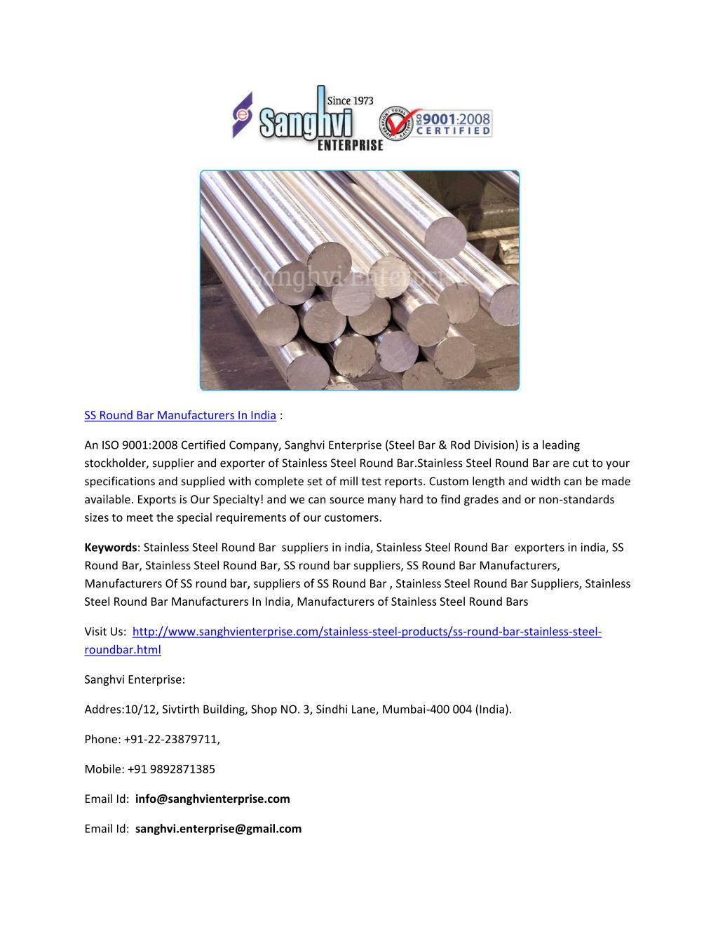 Manufacturers India Ppt Stainless Steel Tube Manufacturers In India Powerpoint