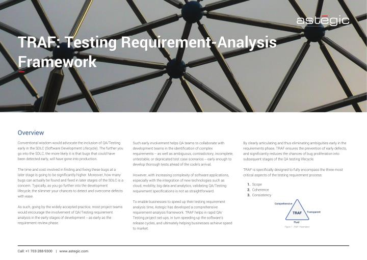 PPT - TRAF Testing Requirement-Analysis Framework PowerPoint - requirement analysis