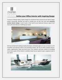PPT - Define your Office Interior with Inspiring Design ...
