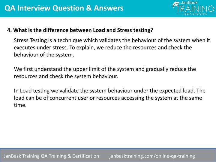PPT - Software Quality Assurance (QA) Testing Interview Questions