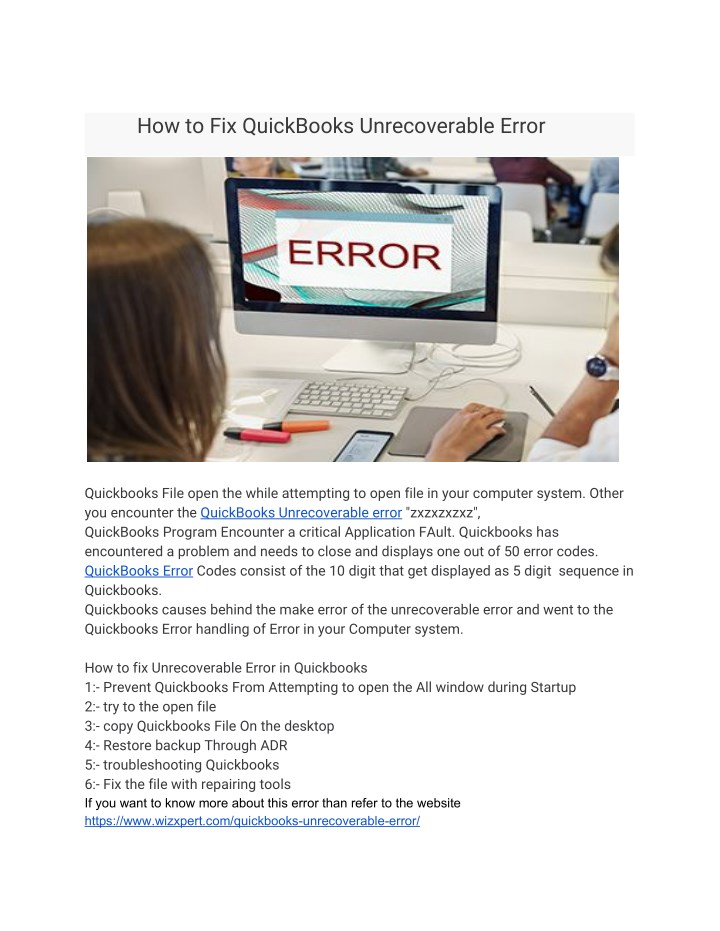 PPT - How to Fix QuickBooks Unrecoverable Error PowerPoint - Quickbooks Unrecoverable Error