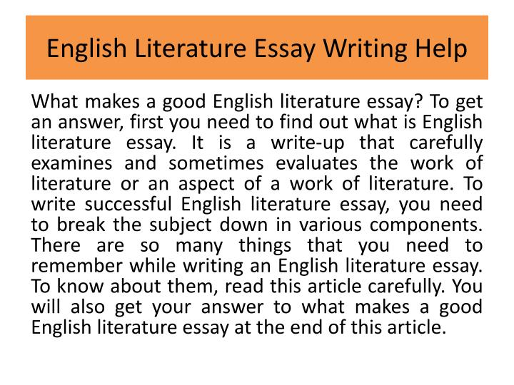 English literacy essay Term paper Writing Service