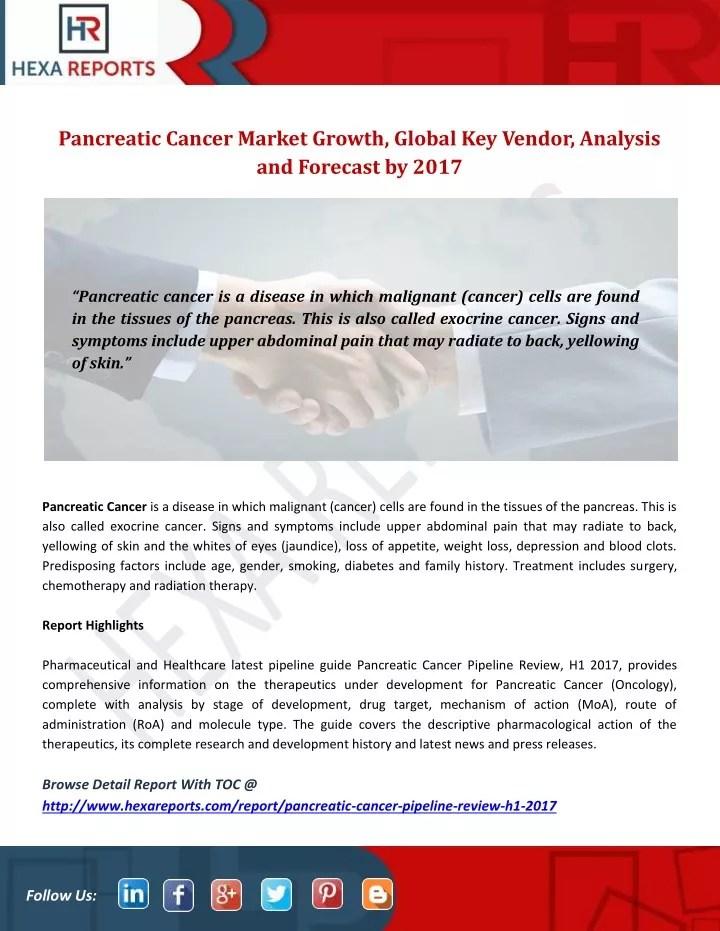 PPT - Pancreatic Cancer Market Growth, Global Key Vendor, Analysis