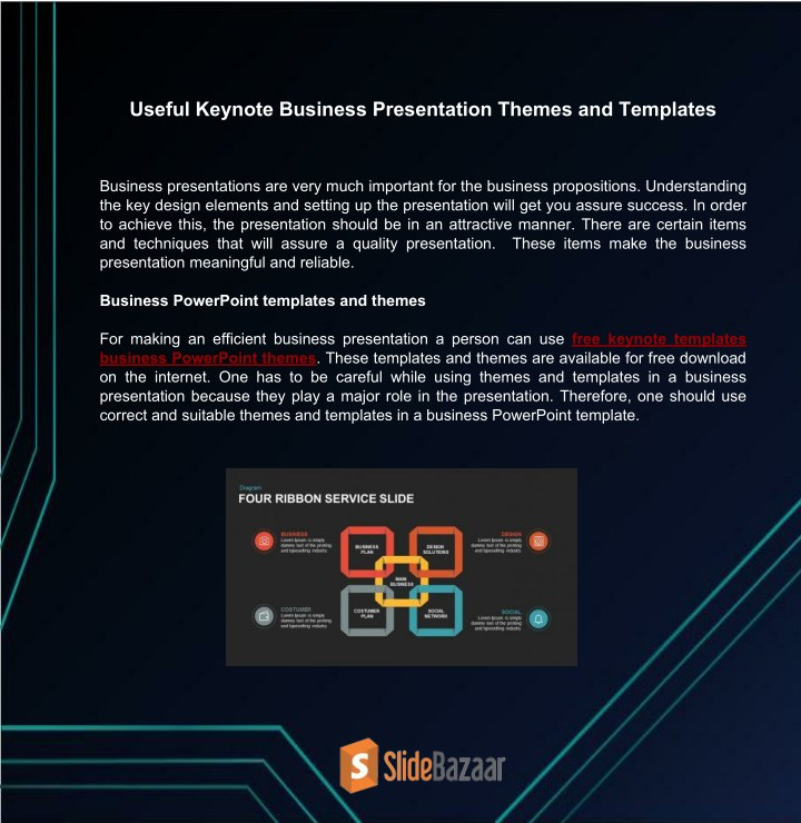 PPT - Useful Keynote Business Presentation Themes and Templates