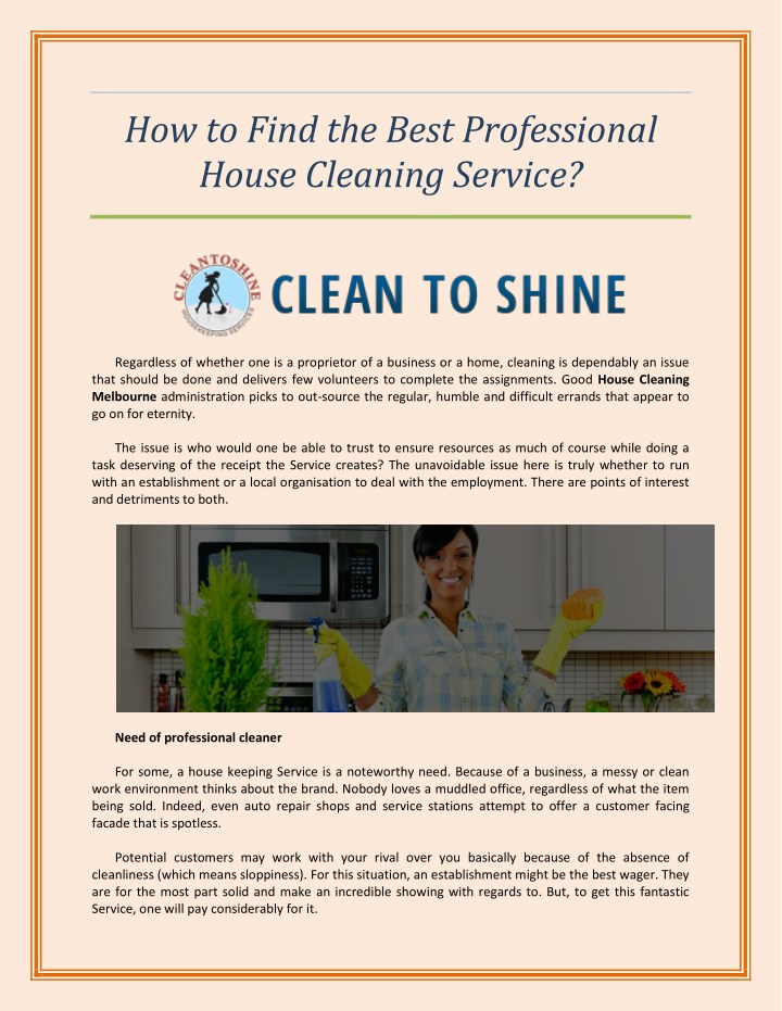 how to find a good house cleaner - Yelommyphonecompany