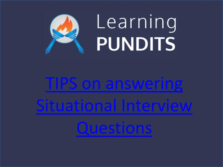 PPT - Tips For Cracking Situational Interview Questions PowerPoint - situational interview answers