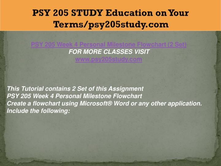 PPT - PSY 205 STUDY Education on Your Terms/psy205study