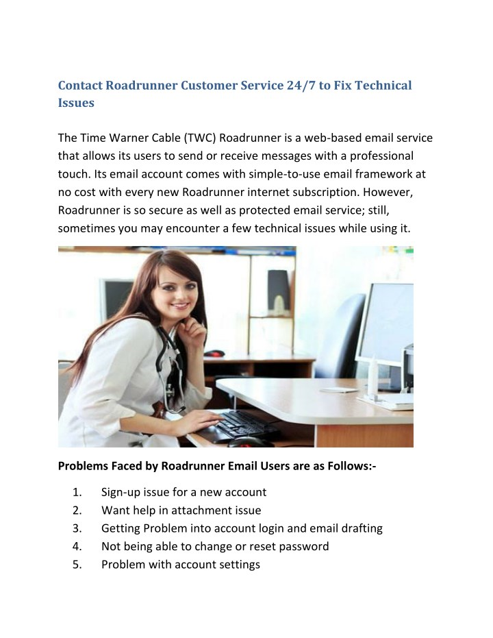PPT - Contact Roadrunner Customer Service 24/7 to Fix Technical