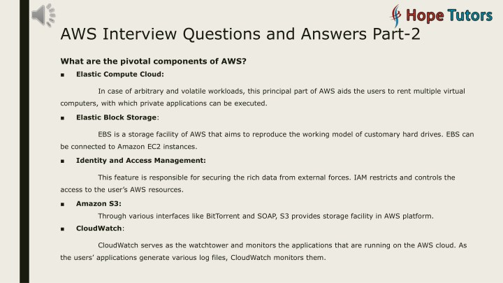 PPT - AWS Interview Question and Answers PowerPoint Presentation
