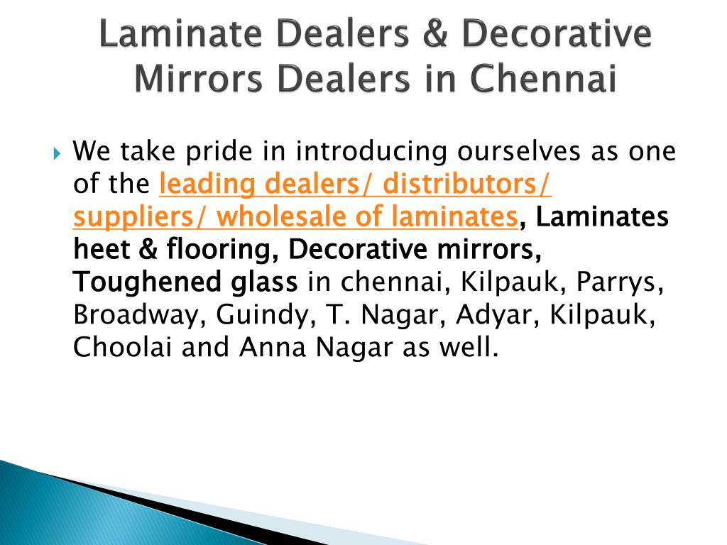 Wholesale Distributors In Chennai Ppt Saintgobainglass Dealers Suppliers In Chennai