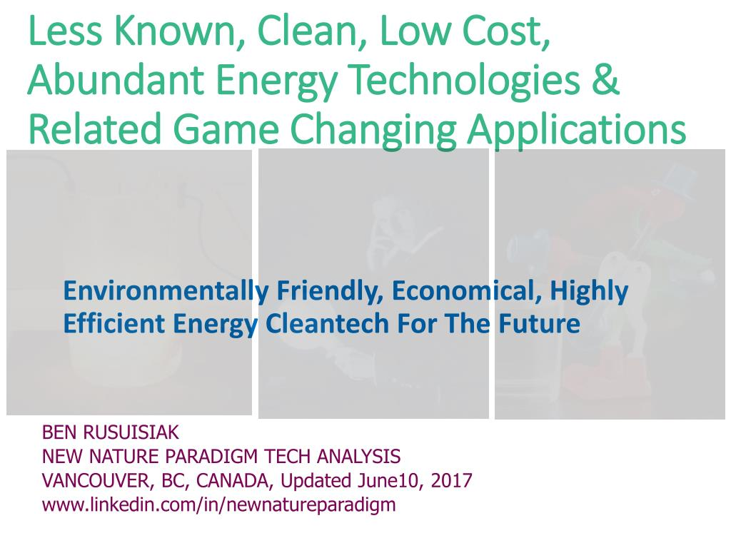Pool Wärmepumpe Silent Ppt Less Known Clean Low Cost Abundant Energy Technologies
