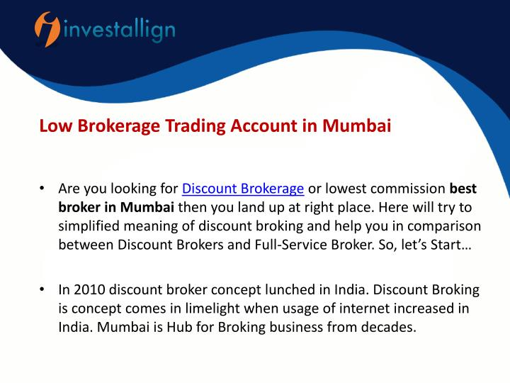 PPT - Best Discount Stock Brokers in Mumbai PowerPoint Presentation