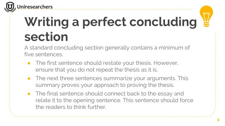 PPT - How to write a perfect concluding section for your essay
