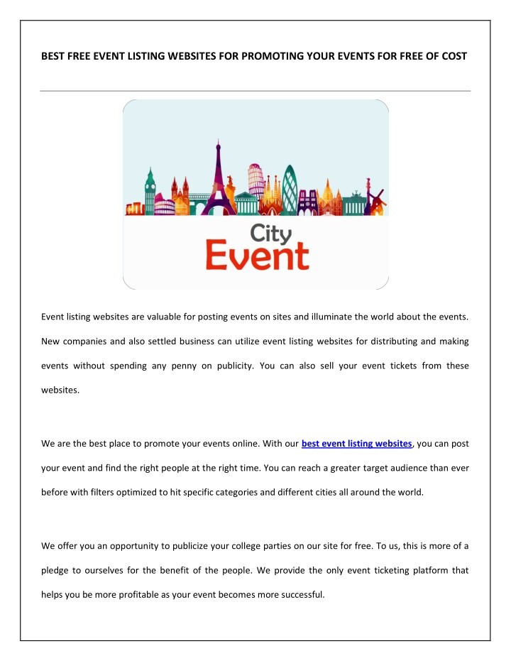 PPT - Best-Event-Listing-Websites PowerPoint Presentation - ID7902930
