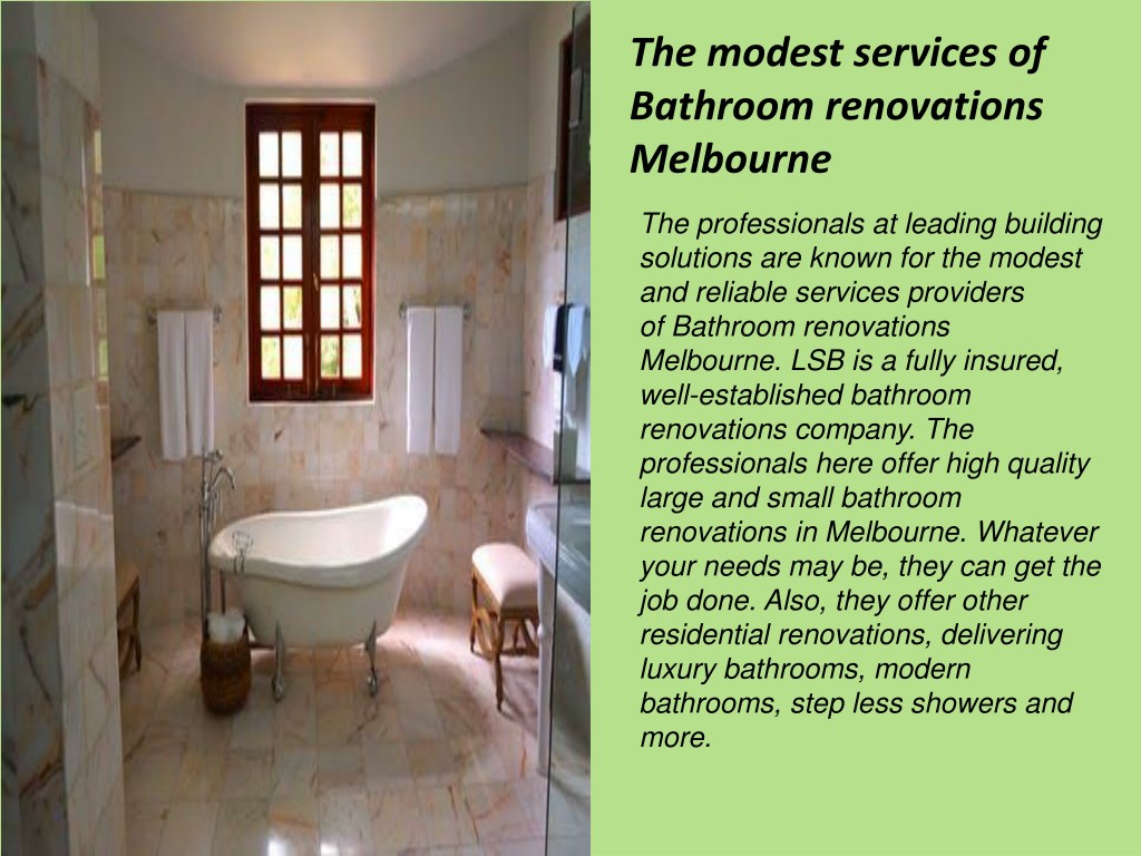 Small Renovations Melbourne Ppt Bathroom Renovations Melbourne Eastern Suburbs From Leading
