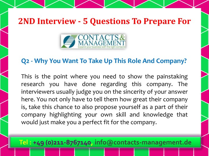 PPT - 2ND Interview - 5 Questions To Prepare For PowerPoint