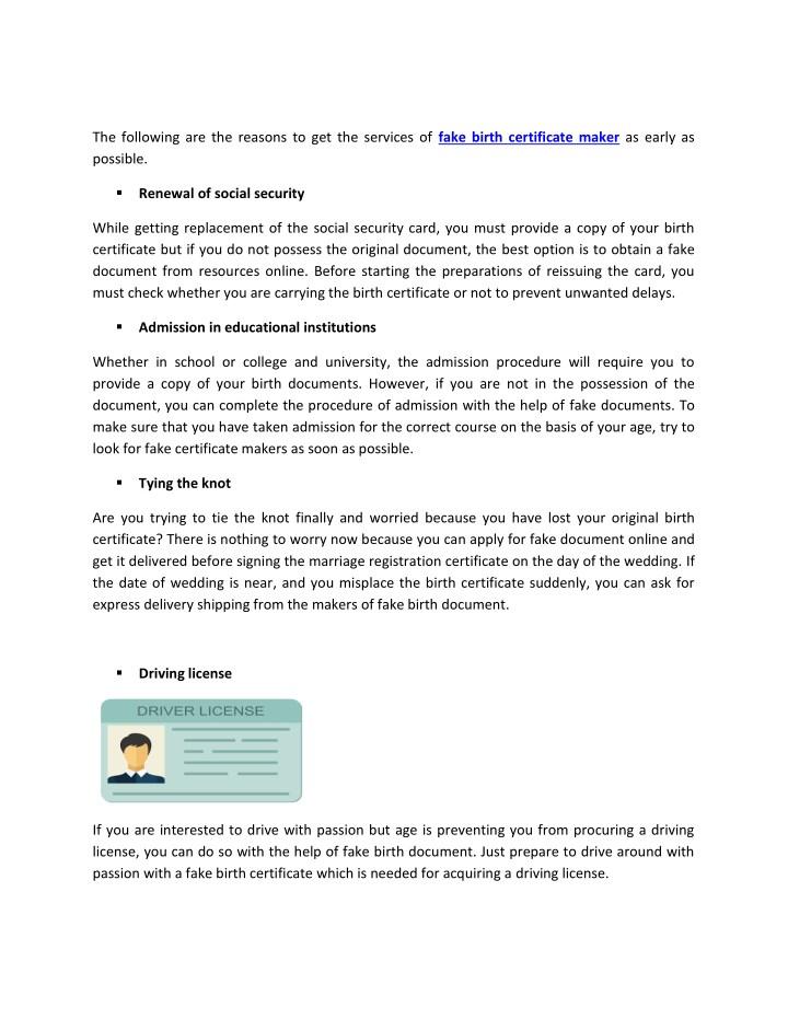 Unique Of Fake Birth Certificate Template Free Printable Death
