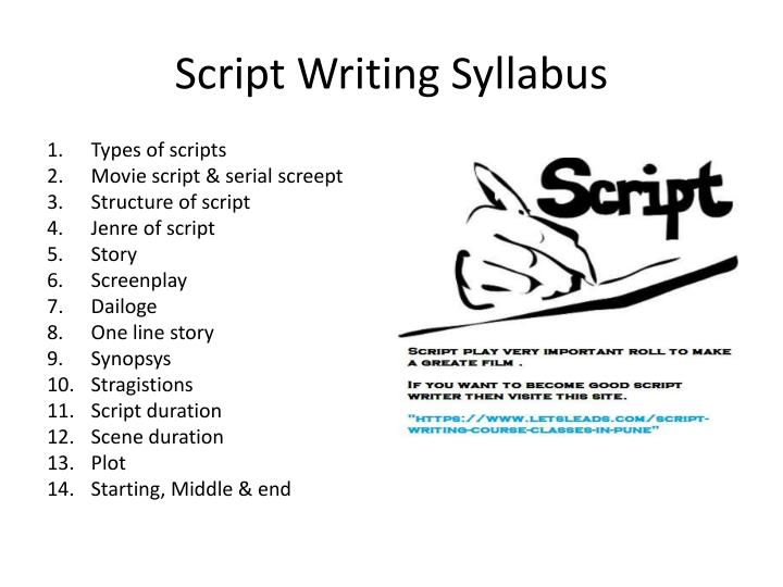 PPT - Best script writing course in pune PowerPoint Presentation