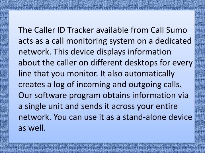 PPT - Caller ID Beyond Call Tracking PowerPoint Presentation - ID