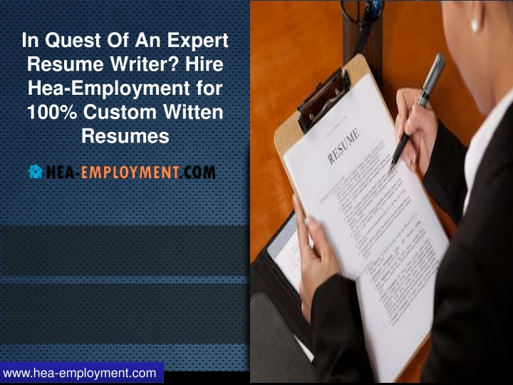 PPT - In Quest Of An Expert Resume Writer? Hire Hea-Employment for