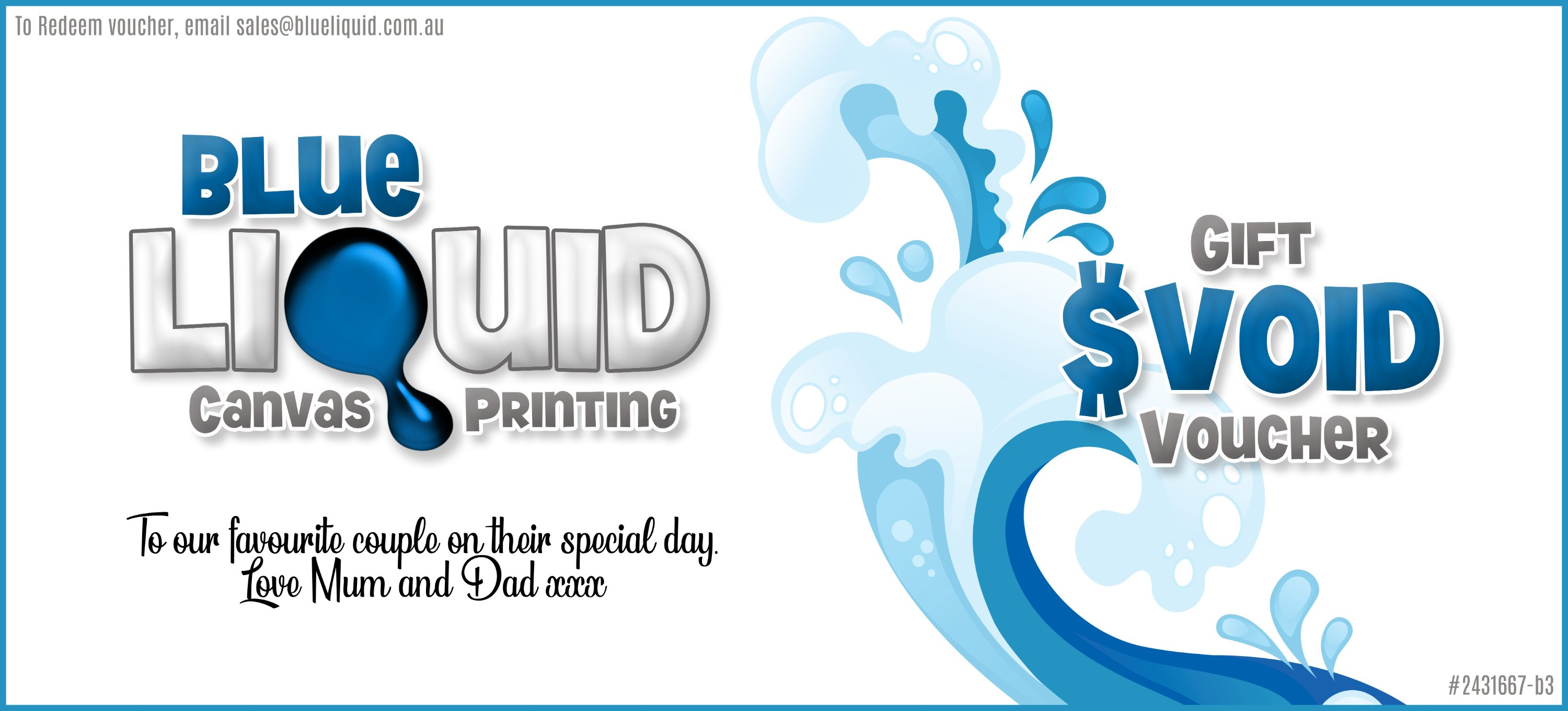Email Gift Vouchers Canvas Printing Brisbane Blueliquid Canvas Printing