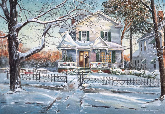 3d Snowy Cottage Animated Wallpaper Windows 7 Winter Art Prints William Mangum Fine Art