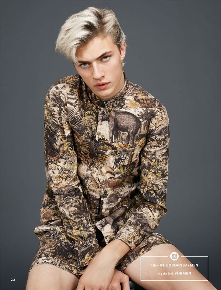 CATALOGUE Lucky Blue Smith for Hudson's Bay Spring 2016. www.imageamplified.com, Image Amplified (7)
