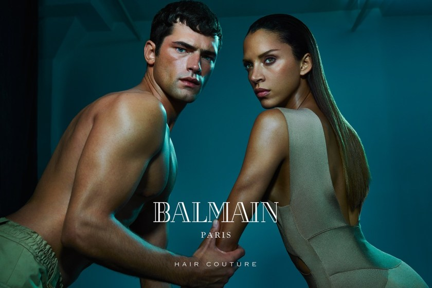 CAMPAIGN Sean O'Pry & Noemie Lenoir for Balmain Hair Couture Summer 2016 by An Le. www.imageamplified.com, Image Amplified (3)