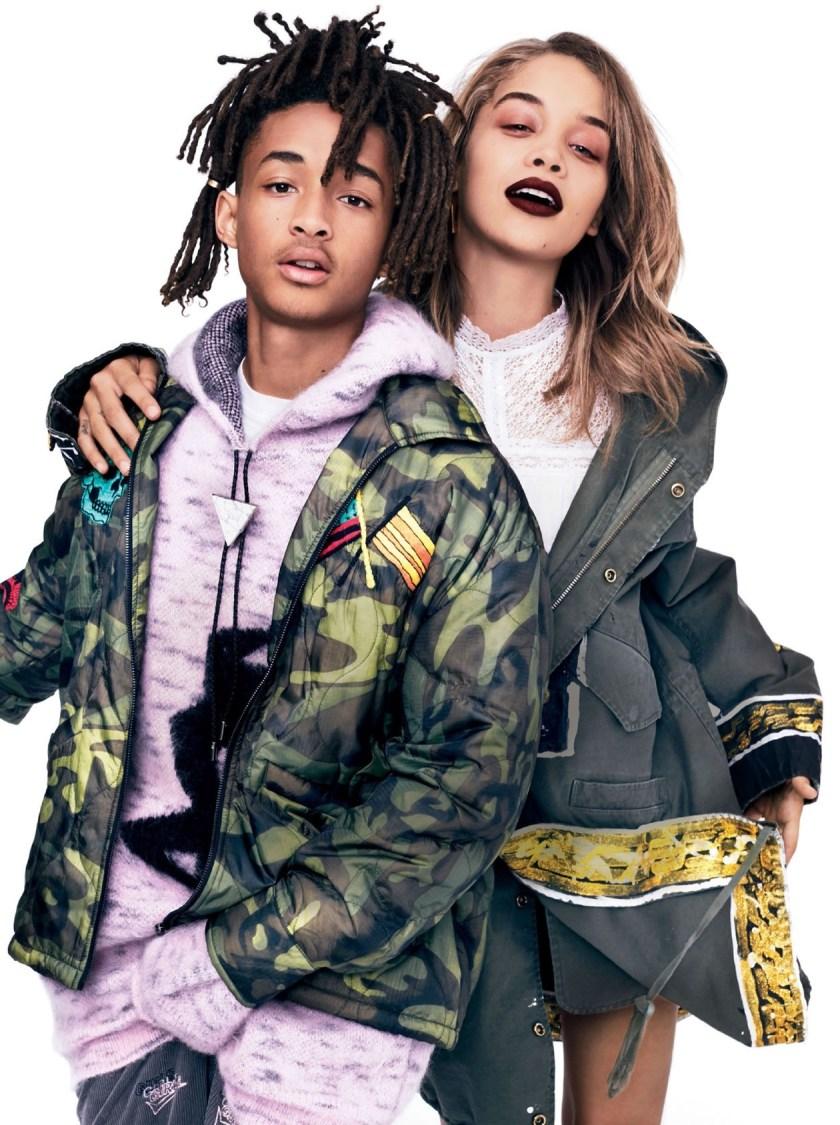 GLAMOUR MAGAZINE Jaden Smith & Jasmine Sanders by Miguel Reveriego. Katie Mossman, August 2016, www.imageamplified.com, Image Amplified1