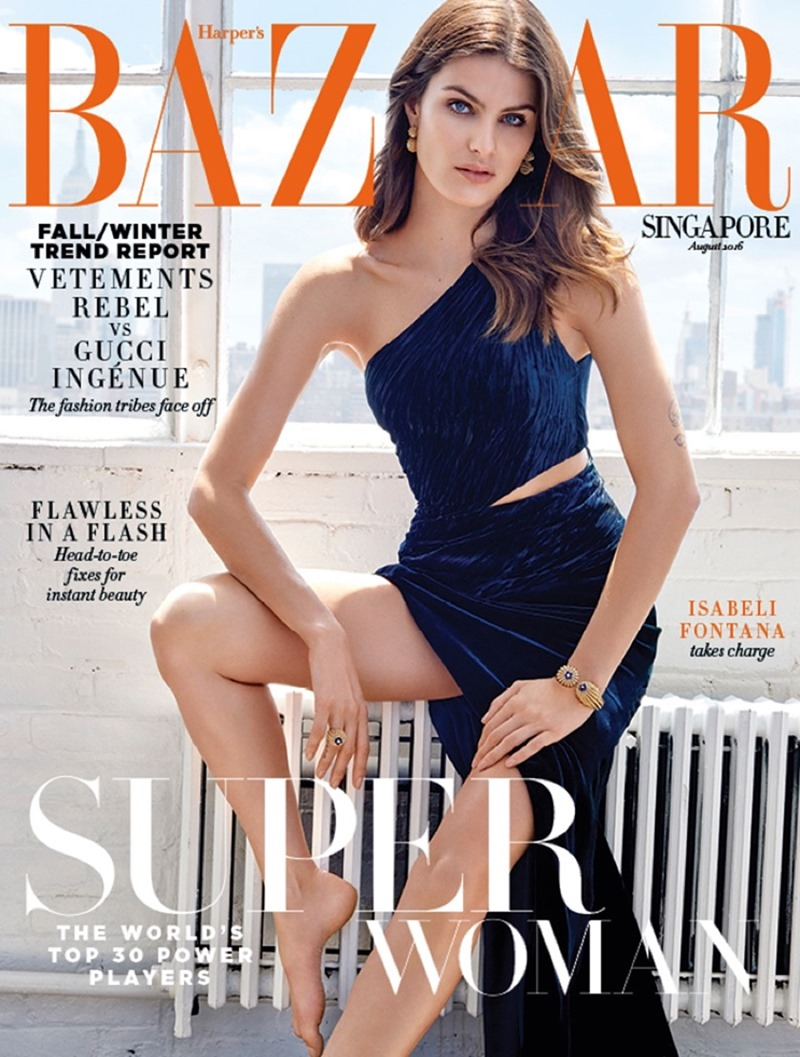 HARPER'S BAZAAR SINGAPORE Isabeli Fontana by Yu Tsai. Kemal Harris, August 2016, www.imageamplified.com, Image Amplified1