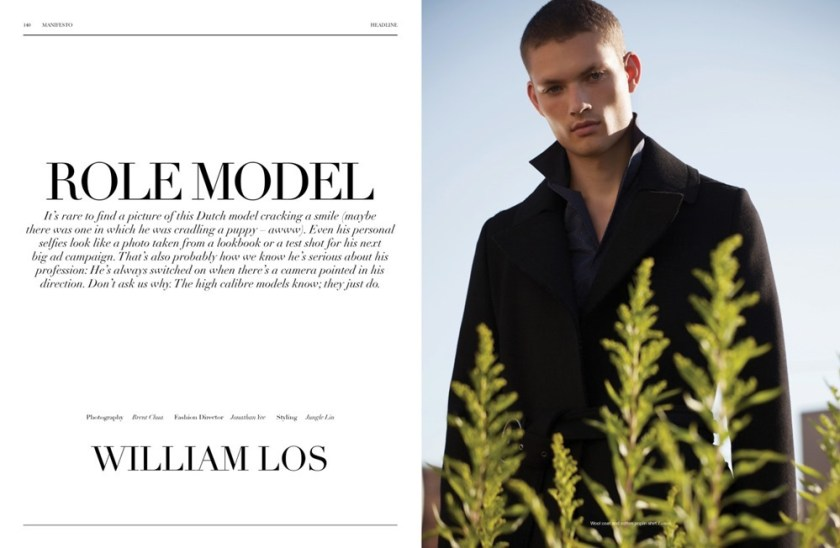 MANIFESTO MAGAZINE William Los by Brent Chua. Jungle Lin, October 2016, www.imageamplified.com, image Amplified1