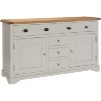 Dillon oak grey painted furniture large living dining room ...