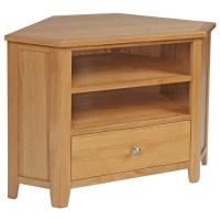 Easton oak living room furniture corner TV cabinet stand ...