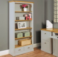 Nara grey painted oak furniture large living room office ...