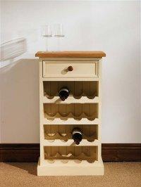 Hampton cream painted pine furniture small wine rack | eBay