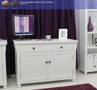 Hampton white painted furniture hidden home office ...