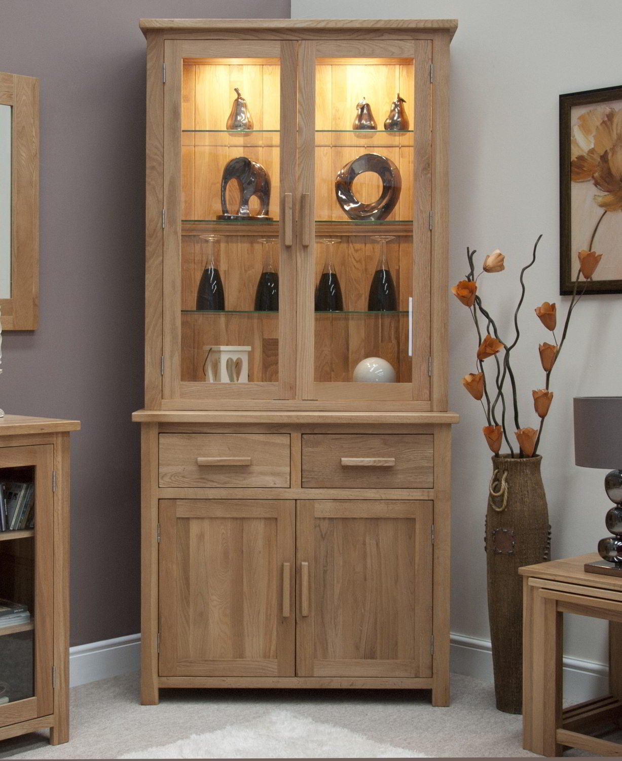 Oak Living Room Ideas Eton Solid Oak Living Dining Room Furniture Small Dresser