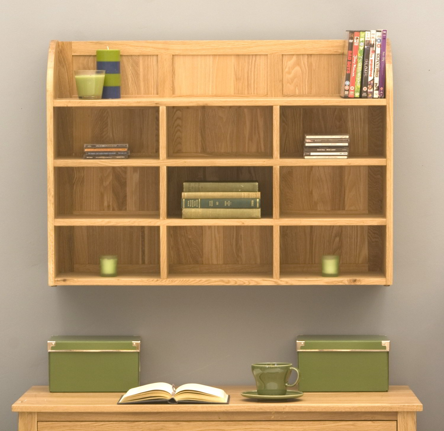 Dvd Wall Storage Conran Solid Oak Modern Furniture Cd Dvd Office Storage