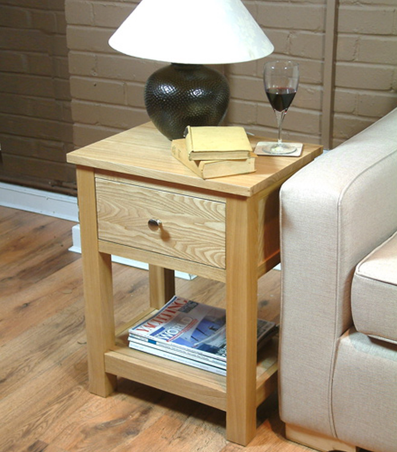 Oak Side Table With Drawer Conran Solid Oak Living Room Furniture Side End Lamp Table