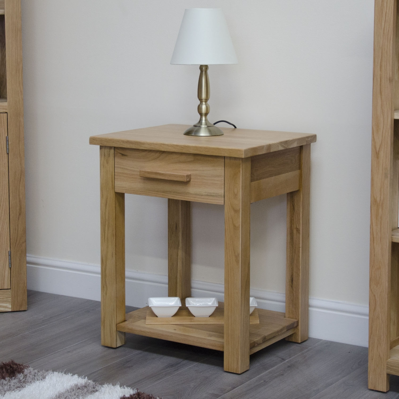 Oak Side Table With Drawer Arden Solid Oak Furniture Lamp Side End Table With Drawer