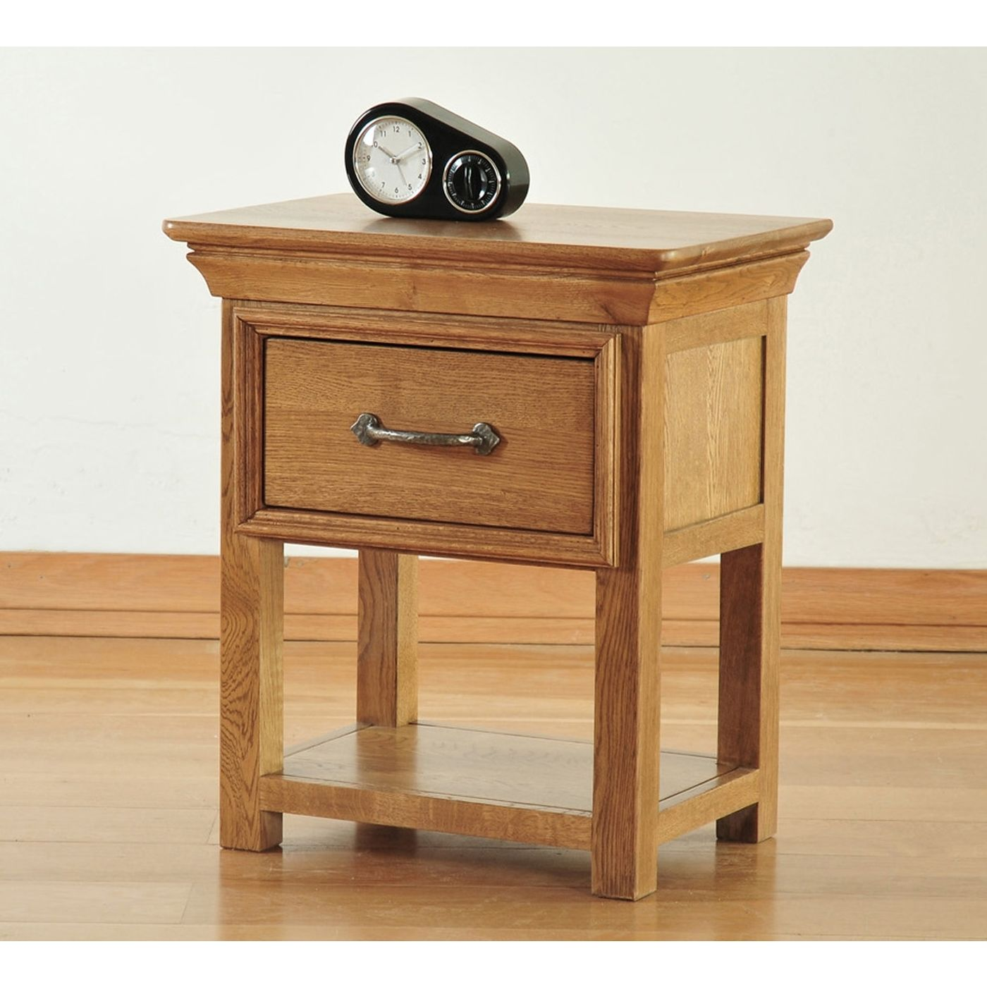 Oak Side Table With Drawer Toulon Solid Oak Furniture Small Side End Lamp Table With