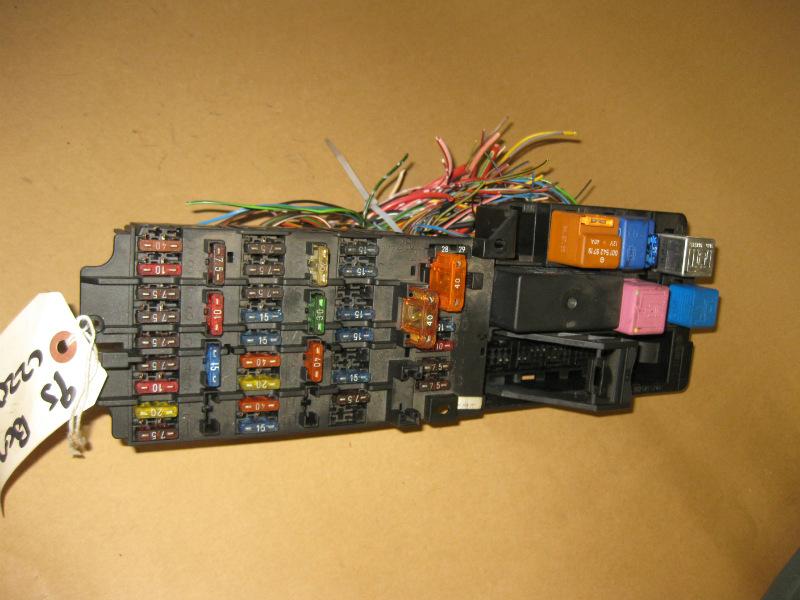W202 Fuse Box circuit diagram template