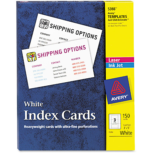 avery 5388 index cards