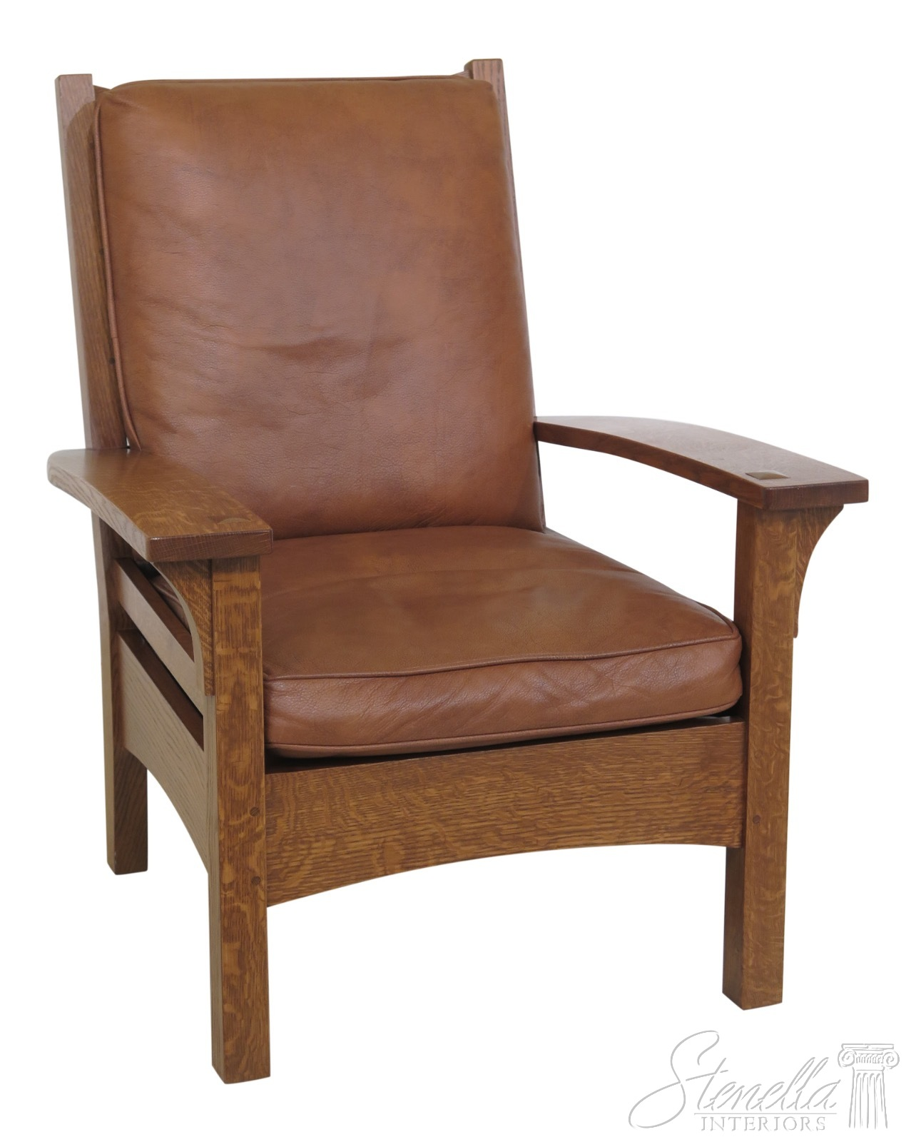 Leather Lounge Details About 30679ec Stickley Mission Oak Arts Crafts Leather Lounge Chair