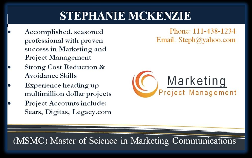business card resume examples - Ozilalmanoof - resume business cards