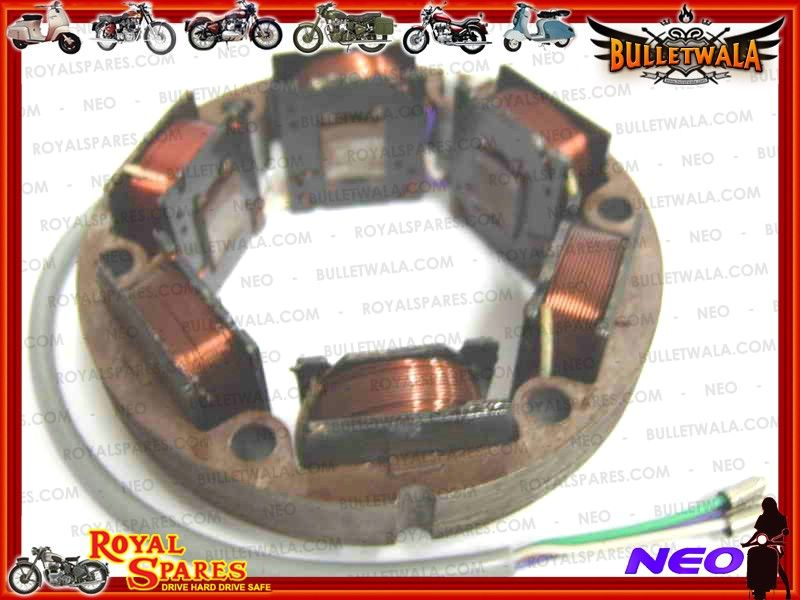 ROYAL ENFIELD 12v ALTERNATOR 3 WIRE STATOR ASSLY#141721, Cheapest